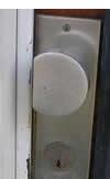 Afgezaagde deurknop