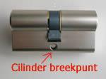 Cilinder breekt meestal als kerntrektechniek wordt toegepast
